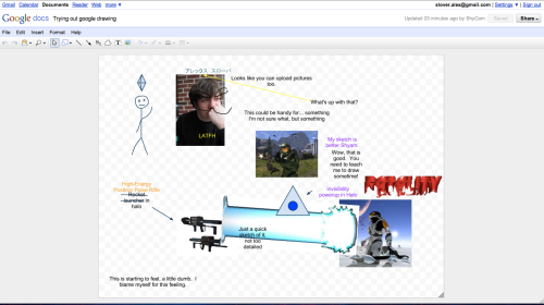 Screenshot of Google Docs' new drawing function